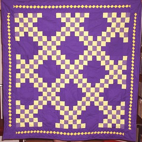 Irish Double Chain Quilt Pattern Free : Double Irish Chain